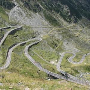 Transfagarasan twisty road