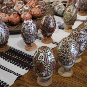 Manually painted eggs from Bucovina